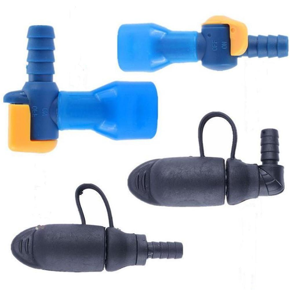 Outdoor Portable Water Bag Silicone Bite-Valve Hydration Pack Nozzle Straight Curved Bite Valve Water Bladder Accessory
