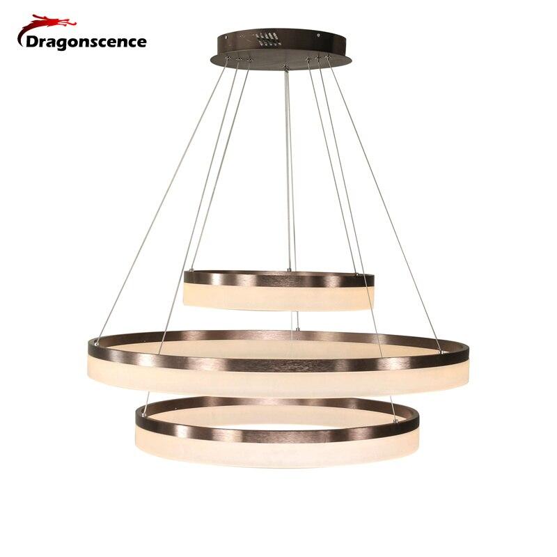 Dragonscence Luxury Modern chandelier LED circle ring chandelier light for Lobby living room Acrylic Lustre customizable modern led lustre chandelier luxury ring