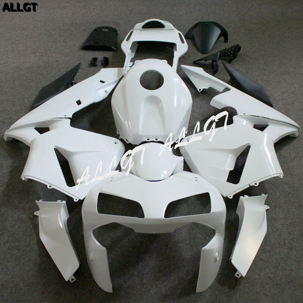 ALLGT Motorcyle Injection Molded Unpainted Fairings Kit for Honda CBR 600 RR F5 2003 2004
