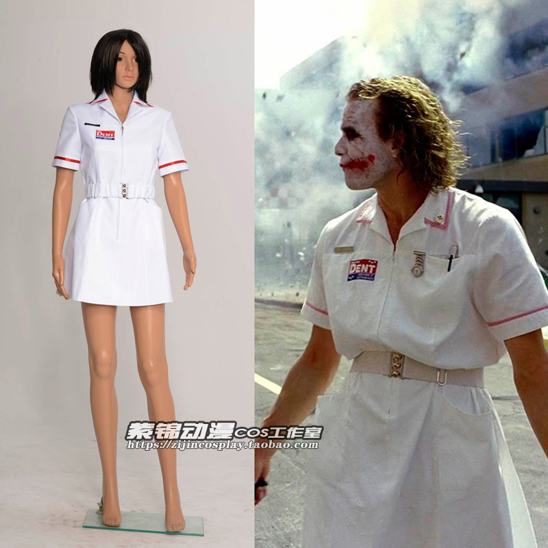 d2d23eaedf8bb Batman Joker Cosplay Costume White Nurse Uniform Coat V2 DressHigh Quality  Cute Fast Shipping-in Anime Costumes From Novelty U0026 Special Use On ...