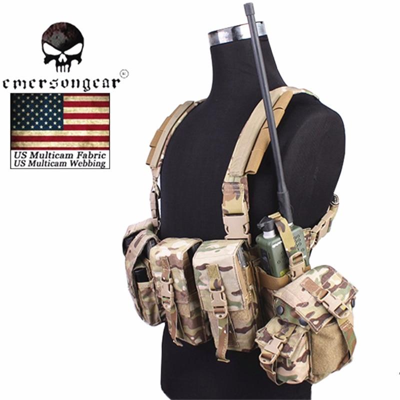 Emersongear LBT 1961A R Chest Rig Tactical Vest Airsoft Combat Gear USA Nylon Cordura EM2977 Multicam