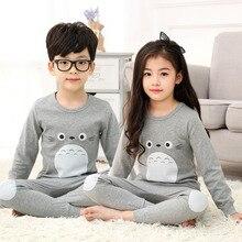 Детское термобелье, подштанники, теплые костюмы, хлопковые Пижамные комплекты для мальчиков и девочек, зимняя детская пижама, топы, одежда
