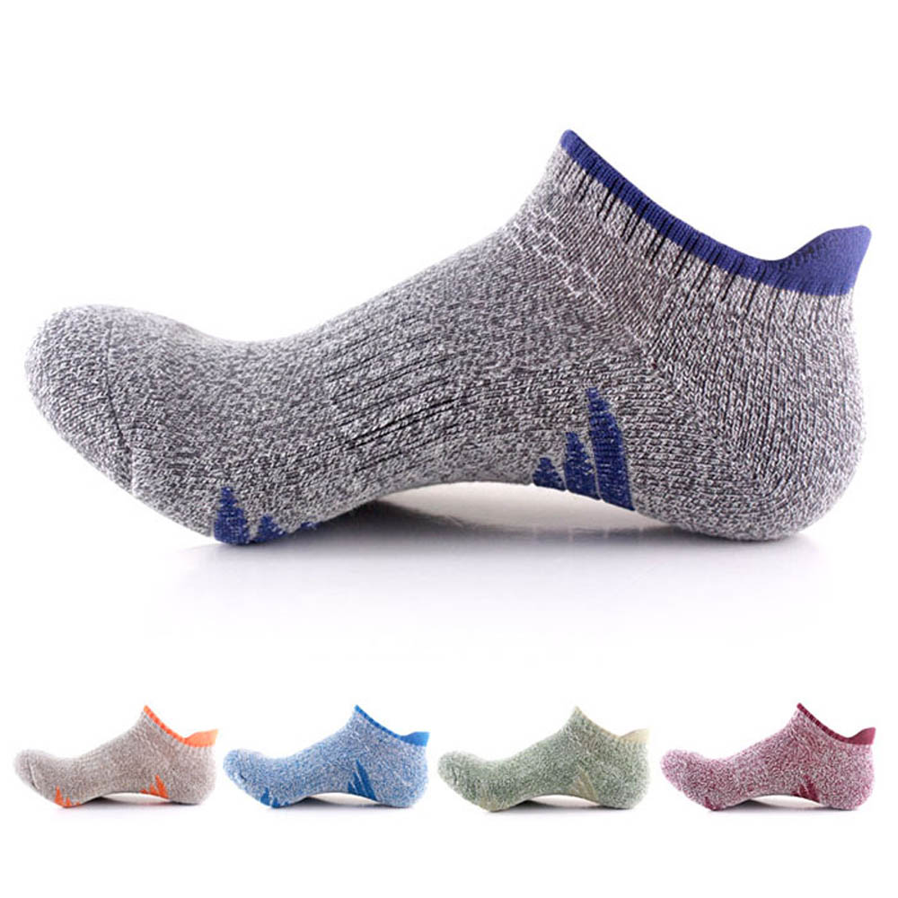 Latest Collection Of Pure Cotton Men Running Socks Quick Dry Running Ankle Sport Socks Cycling Sox Hiking Climbing Compression Socks Professional New Choice Materials