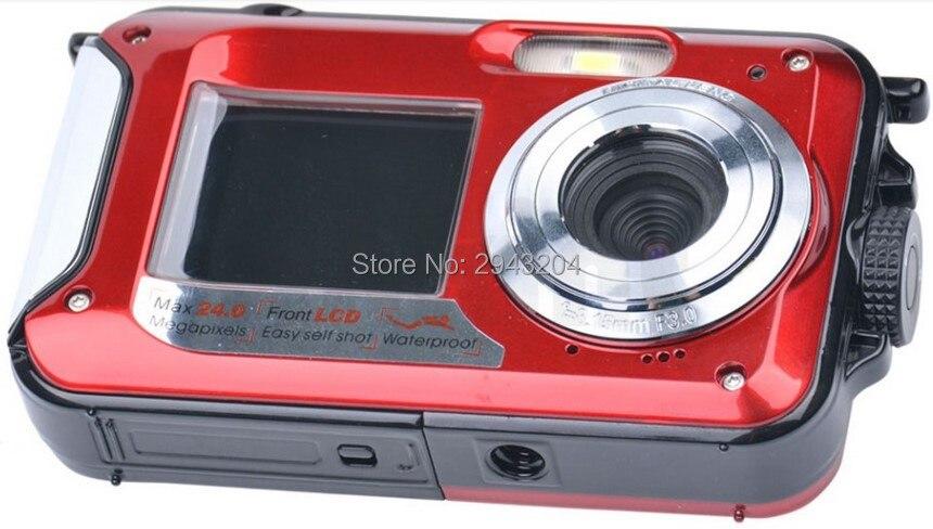 ФОТО Dual Screen Camera HD LCD Screen 16X Digital Zoom 24MP Max Waterproof Diving 3M Digital Camera+8GB 16GB SD Card