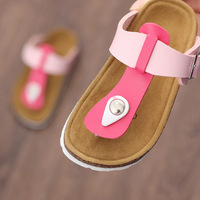 LARTUS Children Shoes Boys Cork Sandals Baby Slippers Summer Mixed Colors Flip Flops Girls Shoes Children Beach Shoes 9236b