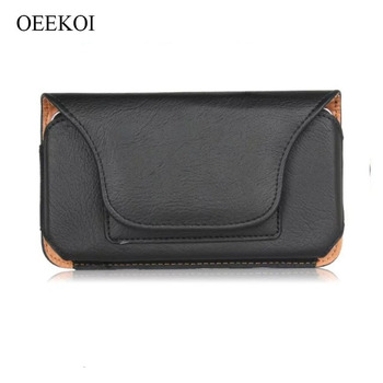 OEEKOI Rhino Pattern PU Leather Belt Clip Holster Pouch Case for Overmax Vertis 6010 Aim/Vertis Mile image