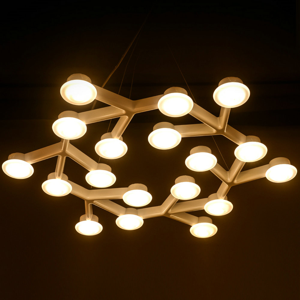 цена Modern Art Design LED Star plum hanglamp Decor pendant lights fixtures with white Iron long circle diamond lustres hanging lamp
