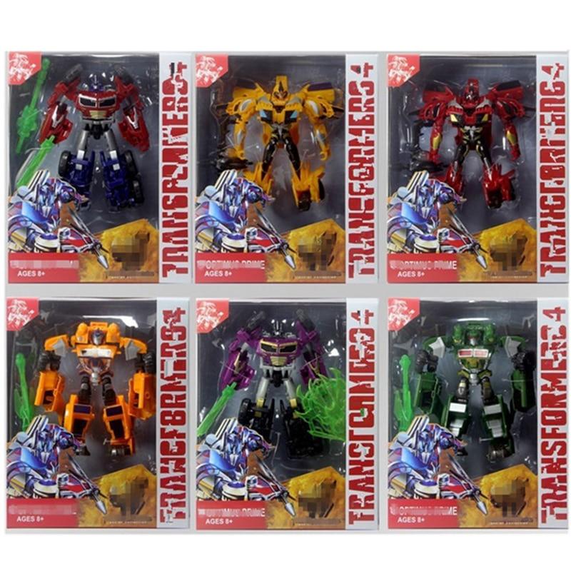 Transformation 6 in1 Dinosaur Rangers Deformation Warrior toy 25cm Action Figure Gundam Model Robot Toy Childrens Birthday Gift