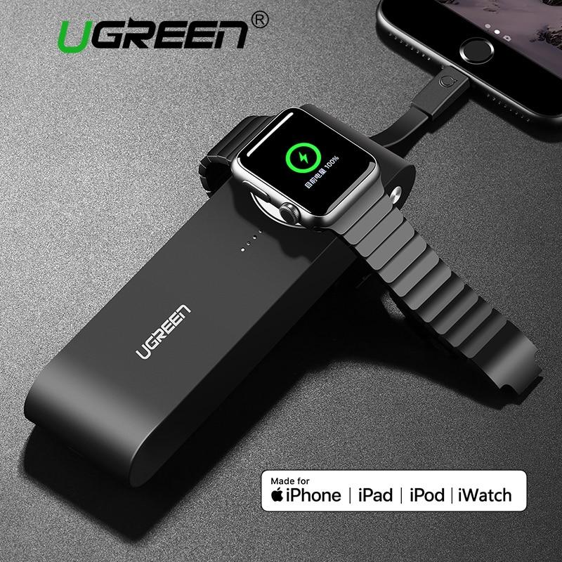 Ugreen 2200 mAh/4400 mAh Chargeur Sans Fil pour Apple Montre 3/2/1 38mm et 42mm MFi Certifié Portable Puissance Banque pour iPhone X/8/7