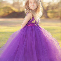 2 14Y Girls Dresses Children Ball Gown Princess Wedding Party Dress Bow Ribbon Girls Summer Party