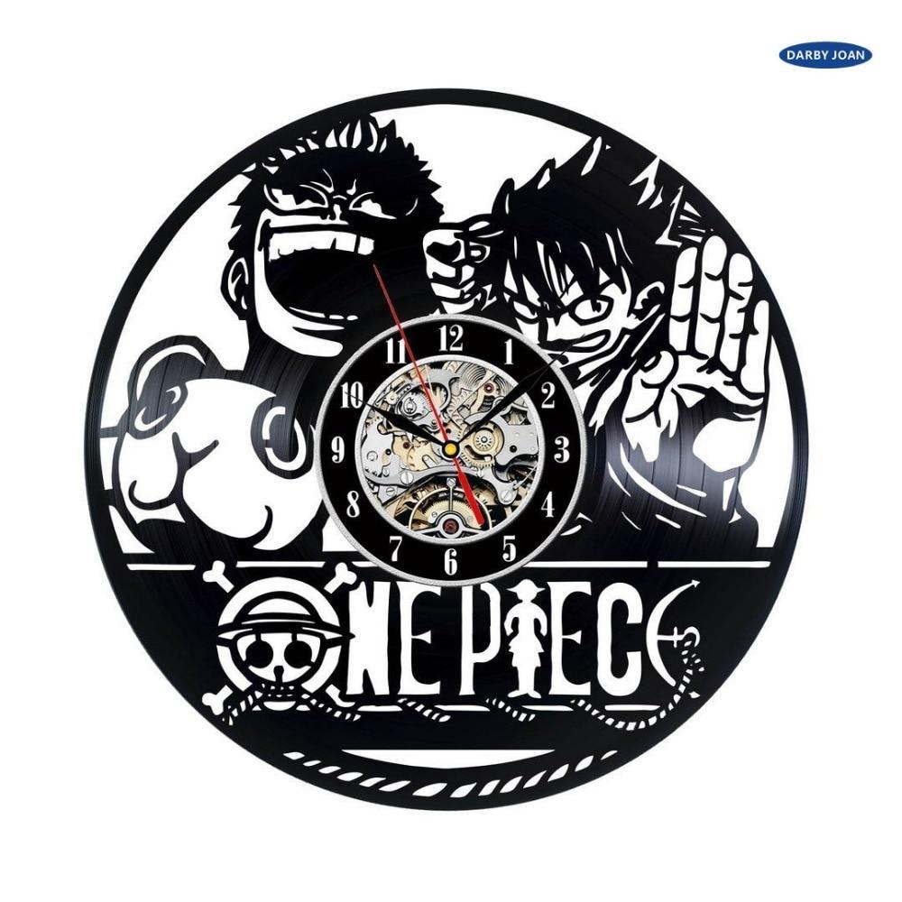 One Piece Cartoon Vintage Decorative Vinyl Wall Clock Reloj Vinyl Wall Clock Wall Clockclock Wall Clock Aliexpress