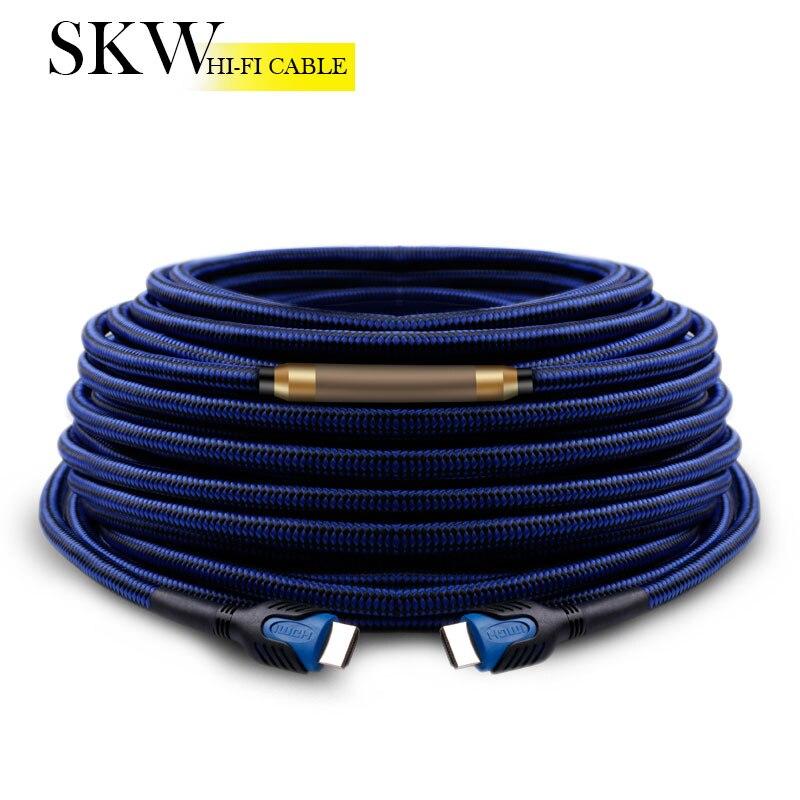 SKW Long Active hdmi câble Premium HDMI à HDMI 2.0 Câble 4 k pour Xiaomi Smart TV et TV Box