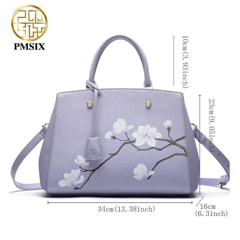 Pmsix Dames Vee Split Leathe Tas Nieuw Ontwerp Dames Messenger Bags - Handtassen - Foto 2