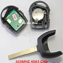 Good Quality For Ford Focus Remote Key 3 Button 433MHZ 4D63 Chip inside HU101 Blade with LOGO