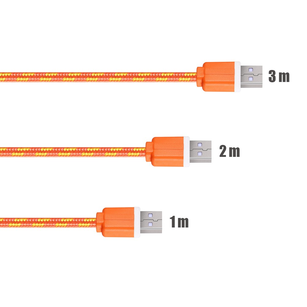 1 m/2 m/3 m materiał nylon pleciony micro usb cable ładowarka synchronizacji danych przewód usb do samsung galaxy xiaomi htc 8 kolory dostępne 3