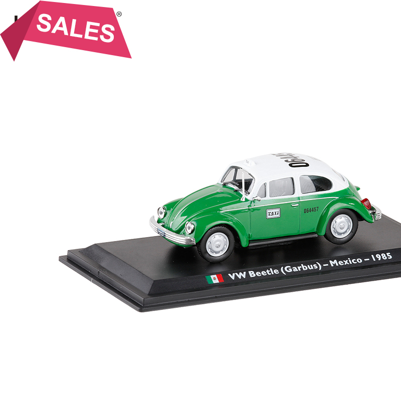 New 1/43 Scale Alloy Car Model Toys Mexico 1985 Volkswagen Beetle Garbus TAIX Diecast Metal Car Model Toy For Kids Gift