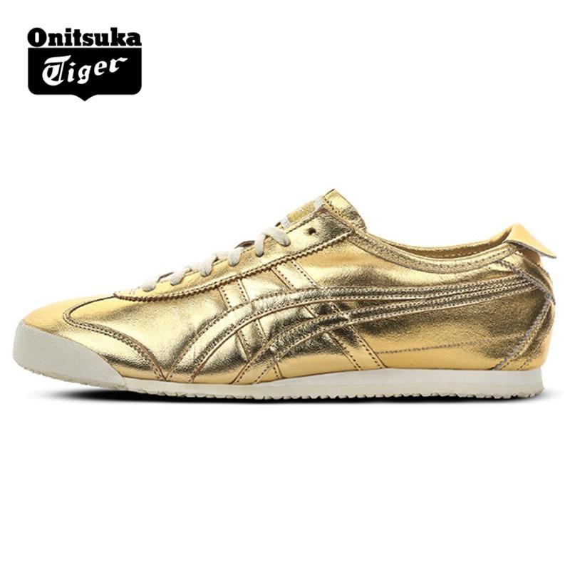 Men Women Shoes Golden Leather Rubber