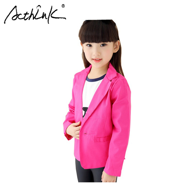 7d9d59a52faa ActhInK New 2017 Girls Blazer Jackets Trench Children Spring Formal ...