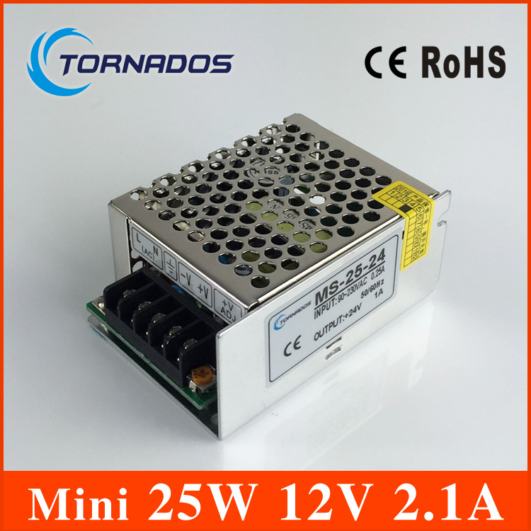 Small Volume Single Output mini size Switching power supply MS-25-12 25W 12V 2.1A ac dc converter single output smaller volume led switching mode power supply mini size ms series 400w 12v 33a ms 400w 12v
