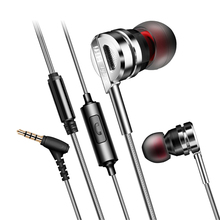 EASYIDEA In-ear Earphone For Phone Metal Super Bass HIFI Stereo Sound Music Earbuds Headsets With Microphone Subwoofer Earphones