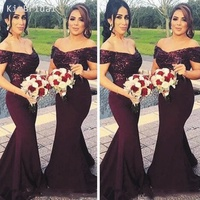 Deep Purple Bridesmaid Dresses Long 2019 Mermaid V Neck Grape Sequin Wedding Party Dresses Robe De Soiree
