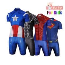 Kids Spider Man Cycling Jersey Wear Short Sleeves Cycling Set Boys Bike  Clothing Ropa Ciclismo Girl 1fa9b9bac
