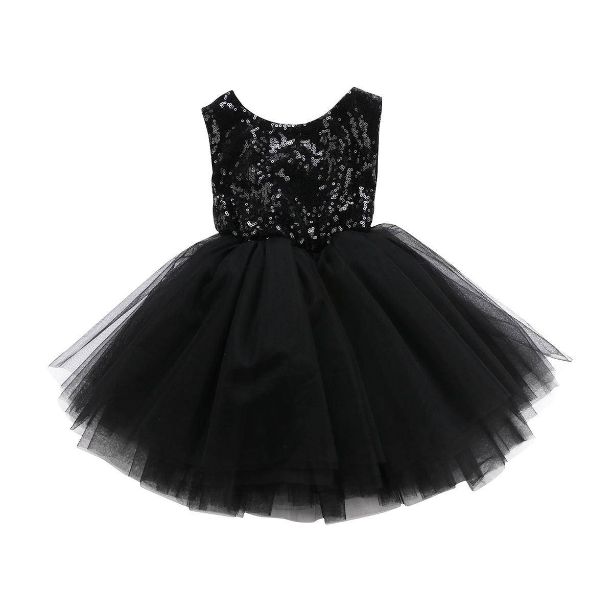 Sequins Kids Baby   Flower     Girl     Dress   Tutu Party   Dress   Cute Sleeveless Ball Gown   Dress