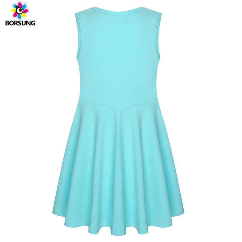 e1218b03f ... 2019 Summer Girls Unicorn Dress Cotton Sleeveless Cute Applique Kids  Dresses For Girls Unicorn Party Dress ...
