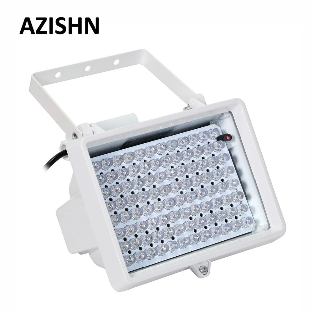 AZISHN CCTV LEDS CCTV 96PCS IR LEDS CCTV Fill Light illuminator infrared lamp IP66 850nm Waterproof Night Vision for CCTV camera azishn cctv 12pcs array leds ir illuminator infrared outdoor waterproof night vision cctv fill light for cctv security camera
