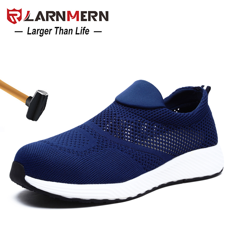LARNMERN Men s Work Safety shoes Steel Toe Anti smashing Lightweight Breathable Non slip Construction Protective