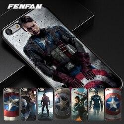 Pour coque iPhone 6S 5 5S SE 6 6S 7 8 Plus X étui Captain America pour iPhone XS Max étui pour iPhone XR cas