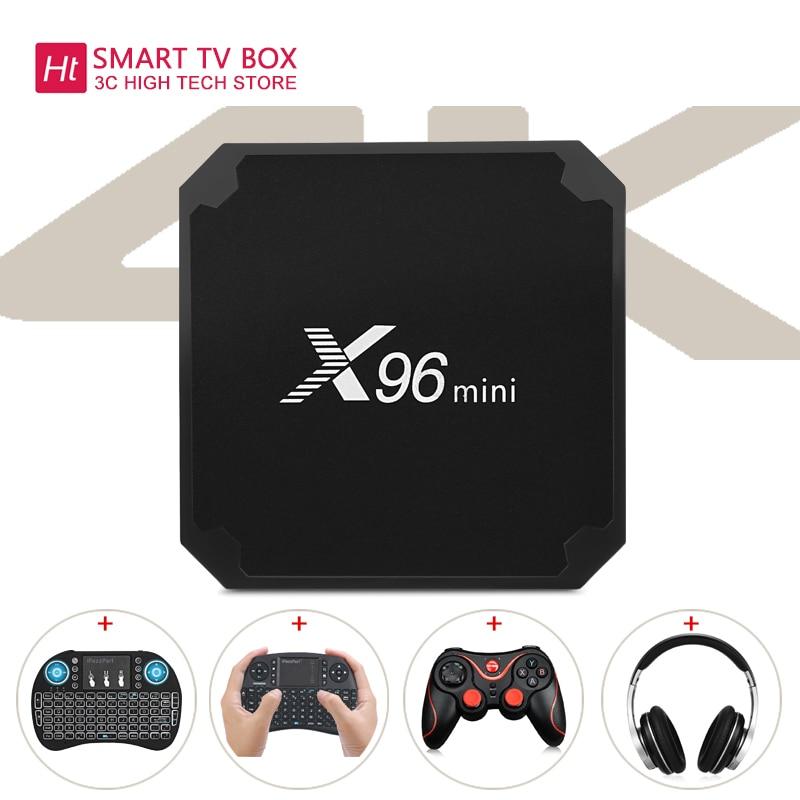 TV BOX X96mini Android TV Box Lettore Digitale S905W Supporto 2.4 ghz WiFi 4 k H.265 100 m LAN smart tv box android X96 mini tv box