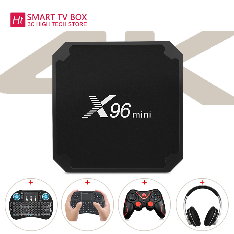 TV BOX X96mini Android TV Box Digital Player S905W Unterstützung 2,4 ghz WiFi 4 karat H.265 100 M LAN smart tv box android X96 mini tv box