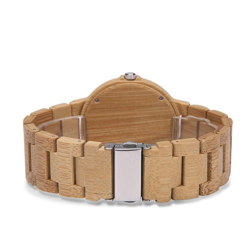 Relojes de madera para hombre de alta calidad ELMERA para relojes deportivos de Madera amarilla reloj a cuadros para hombre reloj automático de marca de lujo