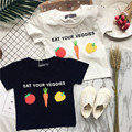 2017 SUMMER KIDS CARTOON SHORT SLEEVED T SHIRTS COTTON  VEGETABLE CLOTHING BABY BOY CLOTHES BABY GIRL CLOTHES KIDS TOPS VESTIDOS