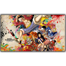 Popular Anime One Piece Silk Posters Souls Luffy Roronoa Zoro Nami Usopp Sanji Boa Hancock Pictures for Decoration Of Room DM728
