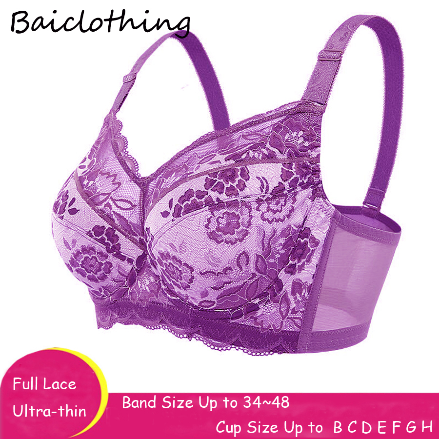 b0b3d548515df Baiclothing Drop Ship Women s Full Coverage Non-padded Underwire Unlined Bra  34 36 38 40