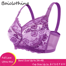 Baiclothing Drop Ship Womens Full Coverage Non-padded Underwire Unlined Bra 34 36 38 40 42 44 46 48 B C D E F G H Wholesales