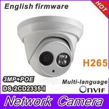 2015 Новая модель DS-2CD2335-I заменить DS-2CD2332-Я 3-мегапиксельной массив 30 м ИК Сетевая Купольная ip камеры безопасности H265