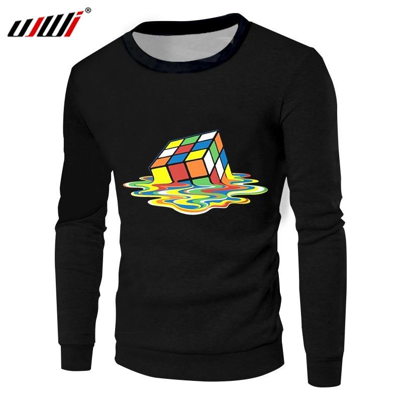 UJWI décontracté sweat-shirt Cool imprimer Rubik Cube 3D vestes à capuche femmes/hommes d'entraînement Fitness col rond pulls Sweats livraison directe