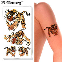 M-theory Small Tiger Choker Makeup Temporary 3d Tattoos Stciker Henna Flash Tatoo Swimsuit Makeup Tools