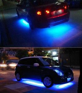 Image 5 - 4x Car Underglow Flexible Strip LED APP/Remote Control RGB Decorative Atmosphere Lamp Under Tube Underbody System Neon Light Kit