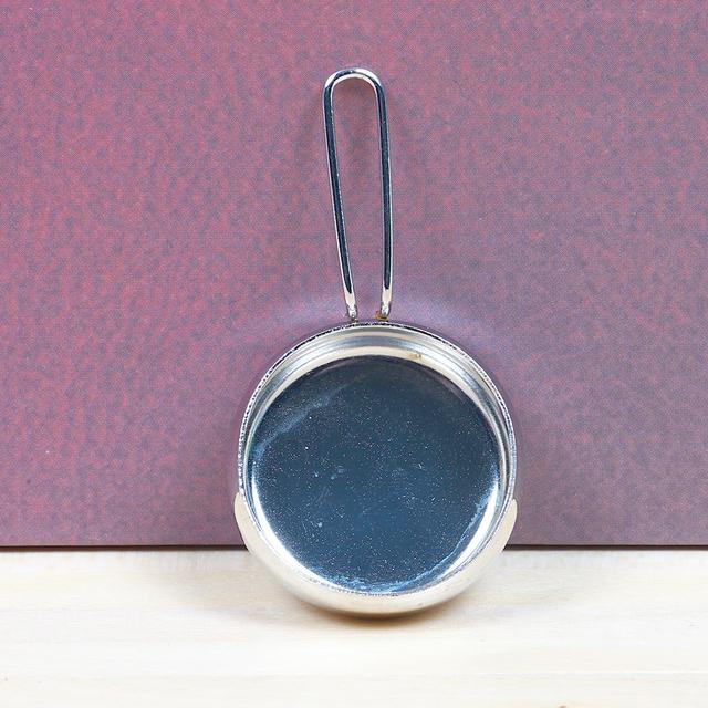 Cute Miniature Silver Mini Pan For Doll House