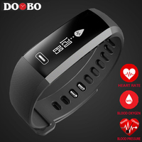 Smart wrist Band Heart rate Blood Pressure Oxygen Oximeter Sport Bracelet Watch intelligent For iOS Android Smartband DOOBO R5