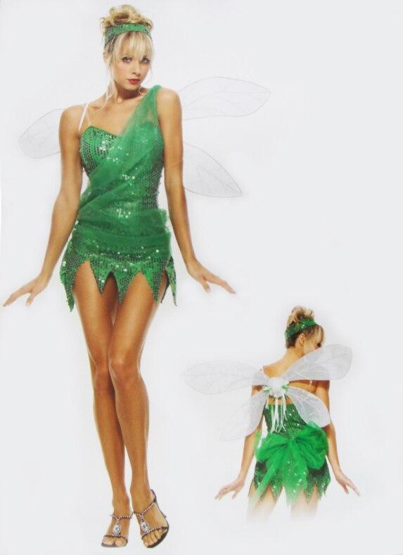 disfraces de halloween para las mujeres duende tinker bell cosplay vestido de princesa de hadas elfos