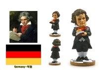 Pintados à mão-de Beethoven, alemanha Criativo Resina Artesanato Estátua de Celebridade Mundial Do Turismo Lembrança Coleção Presentes Casa Decortion