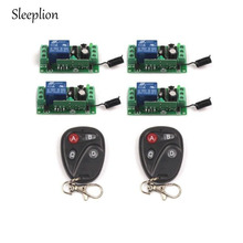 Sleeplion Universal Wireless DC 12V 10A 315MHz/433MHz Remote Control Switch Transmitter with Wireless Remote Control 4 Receiver