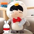 "[PCMOS] 2017 New KPOP Infinite Kim Myung Soo Penguin w Fish 14"" Plush Toy Stuffed Doll HandmadeFree Shipping 16071203"
