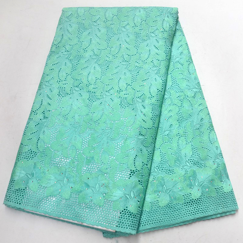 High Quality Rhinestones african Swiss Voile Lace 2018 African Polish Swiss Cotton Voile Lace Fabric For