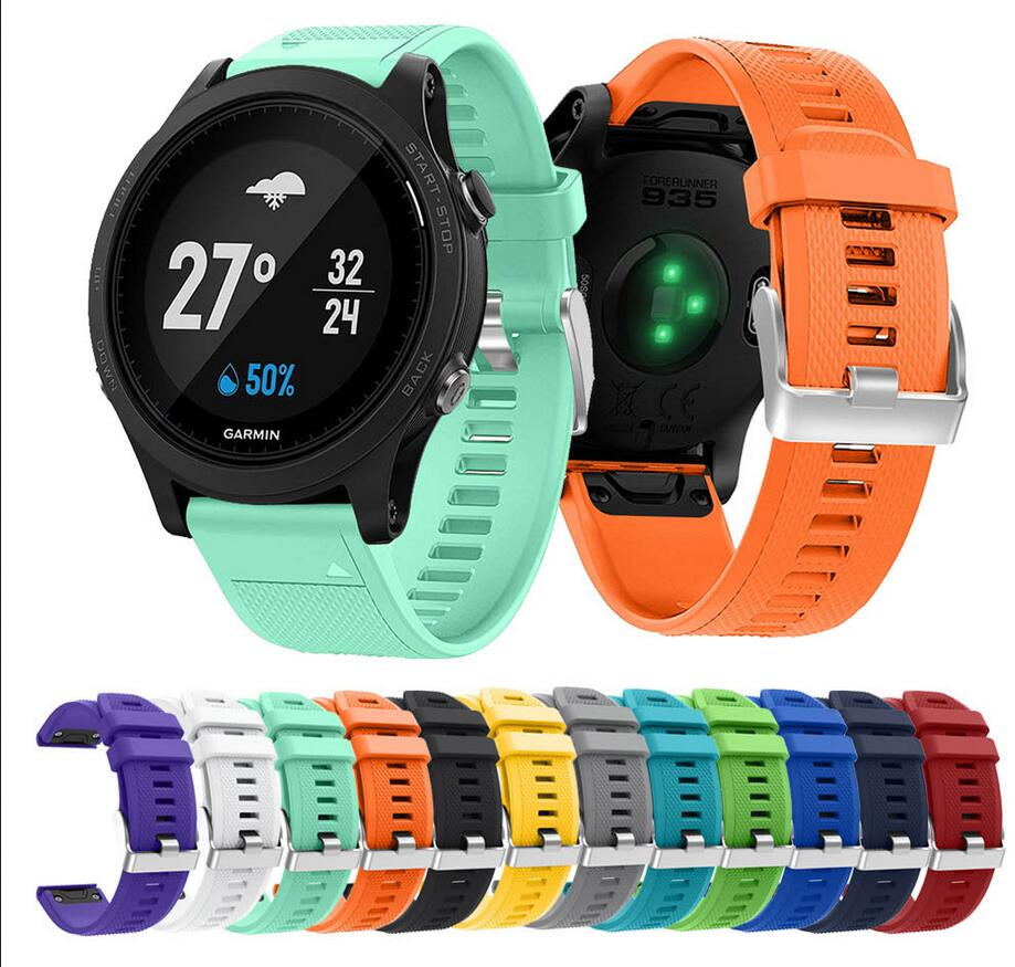 50pcs Soft Silicone Replacement wristband Watch Band bracelet strap for Garmin Fenix 5 For Smart Watch